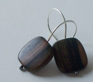 tiger ebony earrings
