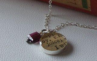 joy resin charm necklace $24 on etsy